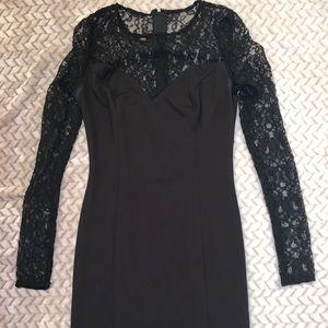 black lace GUESS dress